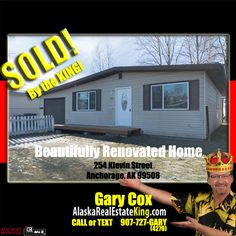 Sold at $229,900. For more Properties FOR SALE by the KING, visit http://alaskarealestateking.com/  Check out the King's reviews from happy clients http://www.zillow.com/profile/Gary-Cox-Realtor/Reviews/