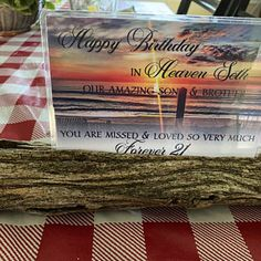 Happy Heavenly Birthday fall waterproof memorial card for | Etsy Happy Heavenly Birthday Dad, Missing Mom In Heaven, Purchase Card, Memorial Cards, Thank You Photos, Dad Birthday, Custom Cards, Memories, Online Shopping