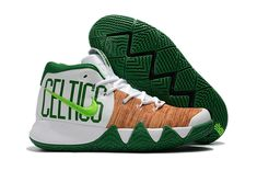 f98e144236ca1 Men Nike Kyrie 4 Celtics White Grass Green Yellow