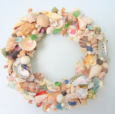 Seashell Wreath for Beach Decor  Nautical by beachgrasscottage, $125.00