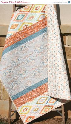 Aztec Baby Quilt Tribal Bedding Modern by SunnysideDesigns2