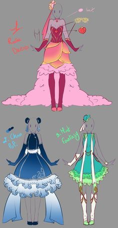 Outfits adopts - Paypal Auction OPEN by rika-dono.deviantart.com on @deviantART