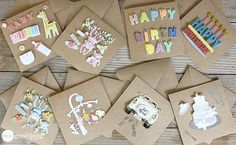 DIY Greeting Cards: MAKE YOUR OWN GREETING CARDS IN LESS THAN 30-SECONDS!
