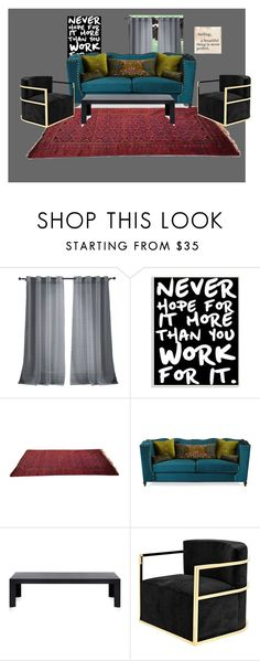 """living room one day"" by blaire-bear on Polyvore featuring interior, interiors, interior design, home, home decor, interior decorating, Kensie, Stupell, Haute House and Kartell"