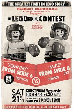 Lego boxing contest on Flickr.