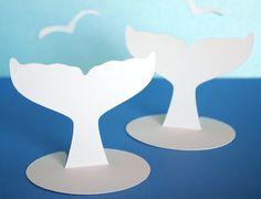 Whale Fluke shaped Place cards Set of 20. $10.00, via Etsy.