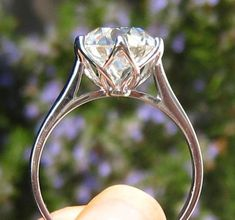 Lily Solitaire Engagement Ring Mount by JuliaBJewelry on Etsy