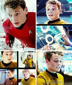 Pavel Chekov. I love him so much. My sister and I keep saying how much we would love to have a Chekov:)