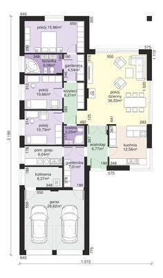 Rzut Dom przy Pastelowej 9 CE Family House Plans, New House Plans, Small House Plans, House Floor Plans, Home Design Plans, Plan Design, Small House Design, Modern House Design, Parenting Plan