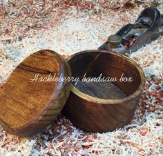 Hackleberry  Bandsaw box A Highly Figured Exotic wood