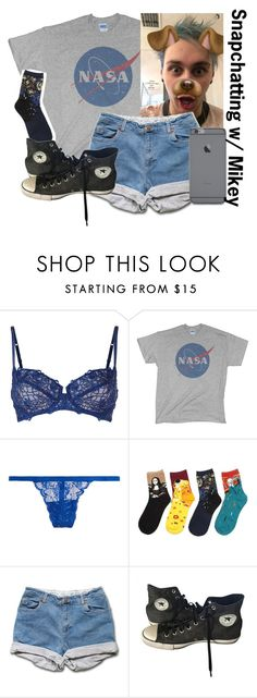 """""""~underneath the lightning is you~"""" by boobear1707 ❤ liked on Polyvore featuring Wacoal, Cosabella and Converse"""
