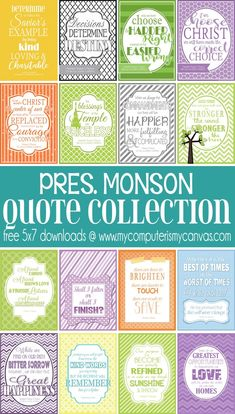 free downloads - Conference Quotes, President Monson; Thomas S Monson Quotes #mycomputerismycanvas