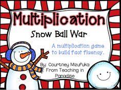Teaching in Paradise: Facebook Fan Freebie! snow ball multiplication direct link