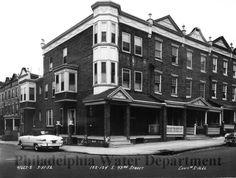 1952 photograph of Philadelphia row houses. From the Philadelphia Water Department.