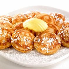 Poffertjes from The Netherlands! o how i love these!!!! with butter and powdered sugar...