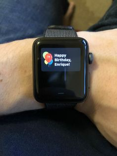 It would appear that my Apple Watch was the first to wish me a happy one this year...