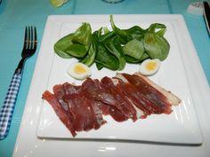 Dans ma cuisine - Magret de canard fumé avec une vinaigrette aux framboises