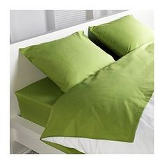 DVALA Sheet set - Full - IKEA For the orange and green color pallet