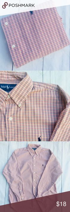 """🐎 🏀SALE 🏀1/$18•2/$32•3/$48•POLO• RL•SALES PRICES ARE LOWEST & FINAL• NO OFFERS WILL BE CONSIDERED, UNLESS BUNDLING• 🇺🇸Military, police & fire men & women receive 10% discount🇺🇸men's  long sleeve 100% cotton oxford shirt•M BLAKE per tag, see measurements below•  Signature pony•GUC• I see no flaws   shoulder: 21"""" Chest: 27"""" (armpit-armpit) Sleeve: 34"""" Length: 33"""" 🐎CHECK BACK EACH WEEK FOR NEW POLO LISTINGS🐎 Polo by Ralph Lauren Shirts Casual Button Down Shirts"""