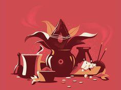 Ceremonial Objects by ranganath krishnamani - Dribbble Indian Illustration, Graphic Design Illustration, Indian Art Paintings, Abstract Paintings, Oil Paintings, Posca Art, Indian Folk Art, India Art, Unique Art