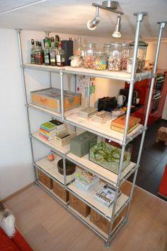 Image result for kee klamp shelves room divider