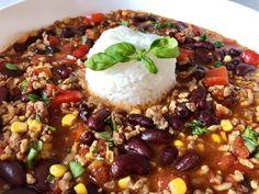 Meksykański kociołek - Blog z apetytem Snack Recipes, Snacks, Aga, Dutch Oven, Chana Masala, Acai Bowl, Chili, Beans, Rice