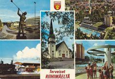 Kuva: RIIHIMÄKI 1995. KUULTOKUVA H 1308 5-väripainos. Vintage Postcards, Finland, Polaroid Film, Album, Movies, Movie Posters, Art, Vintage Travel Postcards, Art Background