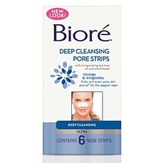 """Biore Ultra Nose Strips 6 Pack """"I love these nose strips for removing blackhead! They really do easily pull all of the junk out of the pores making them appear smaller. Great for once a week use, more frequent use is too irritating."""""""