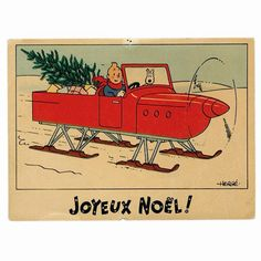 Tintin Christmas card