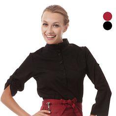 restaurant uniformen 3/4 mouw ober blouses met pull boven – EUR € 24.92