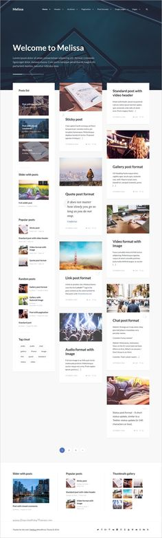 Melissa is a modern, clean and easy to use personal #blog #magazine #WordPress theme with great attention to details download now➩ https://themeforest.net/item/melissa-personal-blogmagazine-wordpress-theme/18845806?ref=Datasata