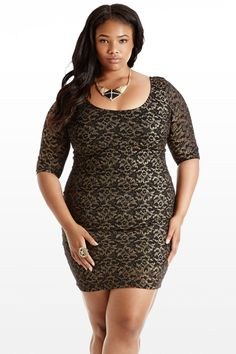 *Gold You So Lace Dress* Beautiful & Affordable!