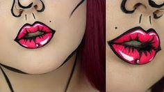 Comic Book/ Pop Art Halloween Tutorial   BeautywithTashy - YouTube