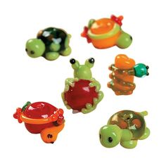 Pond Critters Lampwork Beads - 8mm-18mm - OrientalTrading.com http://www.orientaltrading.com/pond-critters-lampwork-beads-mm-mm-a2-68_26134.fltr?Ntt=frog