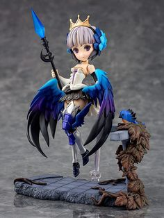 The next figure to join the Parfom series is Gwendolyn. Gwendolyn is one of the main characters from the popular 2D action RPG Odin Sphere Leifthrasir!  The figure includes her Psypher spear which makes use of translucent parts at the tip for a faithful rendition of the in-game design. Her shield is also included. The wings that open out when she glides and floats in the air are included in both small and large versions for various posing options.