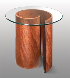Spiral End Table: Richard Judd: Wood End Table - Artful Home