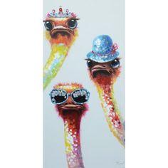 schilderij struisvogels 60x120