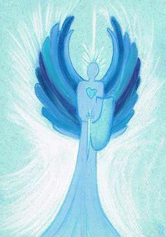 Archangel Michael drawing Angels In Heaven, Heavenly Angels, Angel Clouds, Godchild, Angel Statues, Archangel Michael, Guardian Angels, Cinderella, Disney Characters