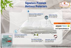 Signature Mattress Protector Maroon Double Bed Waterproof and Dust-proof a must for every home. log on to www. Mattress Protector, Dust Mites, Double Beds, Encouragement, Full Beds, Queen Size Beds