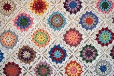 pretty crochet blocks pattern - Google Search