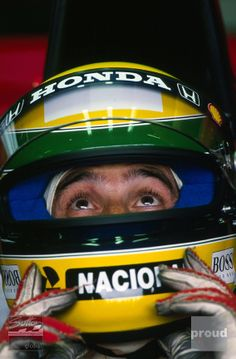 Twenty years after his death at the San Marino Grand Prix, Ayrton Senna is being celebrated in a unique exhibition of images taken by one of the world's foremost photographers.'Senna: Photographs b. Parkour, Ayrton Senna Helmet, San Marino Grand Prix, Brazil Art, Aryton Senna, British Grand Prix, Thing 1, Photography Exhibition, F1 Drivers