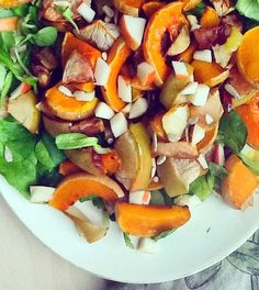Louises køkken: Pumpkinsalat, Kurbissalat, græskarsalat
