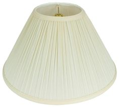 """Pleated Coolie Lamp Shade Cream, White 16-24""""W"""