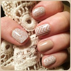 Love the soft neutrals but still want a little flair?  Try layering our wraps or design your own in the nail art studio.  Click here for more ideas:  www.audreyerickson.jamberrynails.com