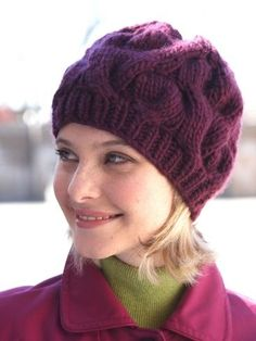 Cable Hat in Bernat Roving. Discover more Patterns by Bernat at LoveCrafts. From knitting & crochet yarn and patterns to embroidery & cross stitch supplies! Knitting Patterns Free, Free Knitting, Crochet Patterns, Free Pattern, Hat Patterns, Knit Or Crochet, Crochet Hats, Cable Knit Hat, Knitting Accessories