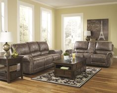 Modern Sectional Sofas I think I LOVE this set minus that coffee table rug etc LOL Motion Titan Leather Match Dual Recliner Sofa and Loveseat Set