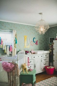 A boho-glam nursery