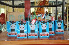 Thomas the Train Party Favor Bags by SRDesserts on Etsy, $24.00