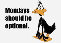 Mondays should be optional