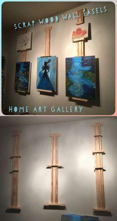 Adjustable wall easels for rotating art work. #artdisplay #artinstallation
